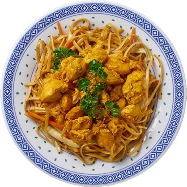 Mah Meh mit Poulet Curry - Kilin Palast China Food in Lachen