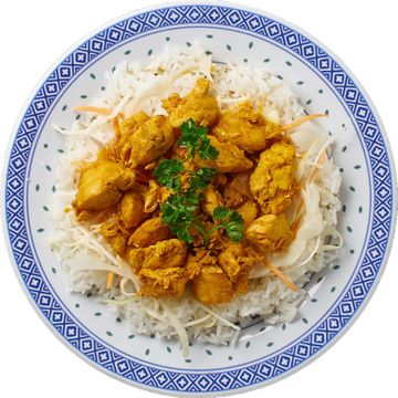 Poulet Curry mit Naturreis - Kilin Palast China Food in Lachen